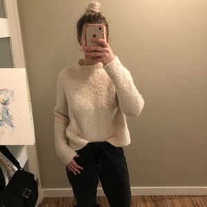 Thick pilled cowl neck sweater